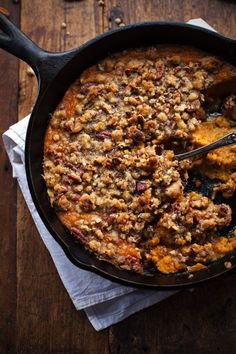 Super Easy Sweet Potato Casserole with Pecan Crumble - Pinch of Yum