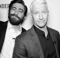 "Jake Gyllenhaal and Anderson Cooper pose post-show at the ""Anderson Live!"" photo booth."