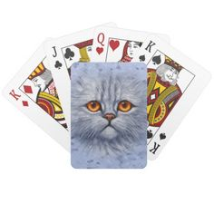 Sad Gray Kitty Card Deck, created from an original oil painting by artist Crista S. Forest.
