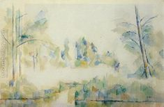 Trees By The Water Paul Cezanne Reproduction | 1st Art Gallery