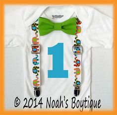 Jungle Birthday Party Bow Tie Outfit  Safari by NoahsBoytiques, $19.00