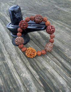 Blessed Rudraksha seed bracelet Wrist mala for men