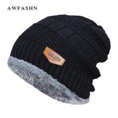 2f20aba9d3307 2018 Men Beanies Knit Hat Winter Cap For Man knitted Cap Boys Thicken  Hedging Cap Balaclava Skullies Fashion Warm knit Beanie