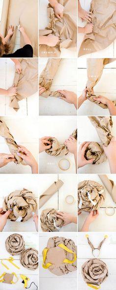 Costume en papier kraft brun pour faire la coquille. #snail #costume #ohhappyday