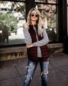 Down For It Quilted Pocketed Vest