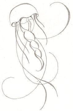 sketch for tattoo design Mermaid Sign, Mermaid Art, Bottle Painting, Diy Painting, Painting Kids Furniture, Art Nouveau, Mermaid Sketch, Jellyfish Drawing, Jellyfish Tattoo