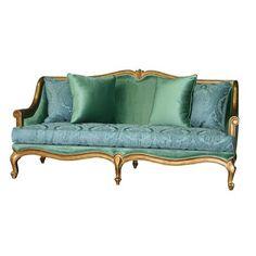 Antique Sofa, Vintage Sofa, Antique Furniture, Living Room Sofa, Living Spaces, Living Rooms, Coffee Table Wayfair, Loveseat Sofa, Fabric Sofa