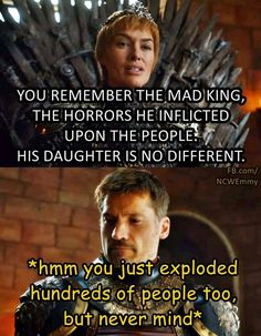 Tyrion may have given that traitorous look but it was most likely jealously and even tho he may get shady on us I still think it will be Jamie to end her reign and life (Or maybe not.... eeek)