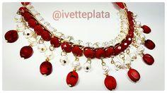 Collar hecho a mano con perla coral natural. Ideal para complementar tu outfit!