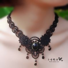 gothic lace necklace