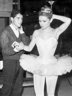 Brigitte Bardot wears a leotard and tutu