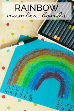 rainbow themed maths activities