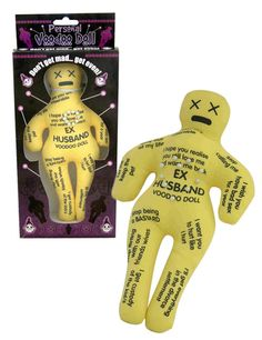 ex husband voodoo doll---love it  I have a few friends who would love this