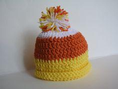 Candy corn hat by StayHomeCupcake