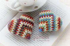 Crochet Pattern  Happy Colorful Crochet Heart Pattern No.