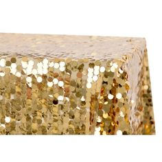 """Large Payette Sequin Tablecloth 90""""x132"""" Rectangular - Gold– CV Linens Beachy Centerpieces, Wholesale Tablecloths, 90 Round Tablecloths, Gold Napkins, Banquet Chair Covers, Sequin Tablecloth, Blush Roses, Anniversary Parties, Event Decor"""