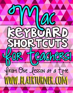 One Lesson at a Time: Mac Keyboard Shortcuts for Teachers---WOW! This is a great resource to have on my desktop. Teaching Technology, Educational Technology, Classroom Organization, Classroom Management, Classroom Ideas, Mac Keyboard Shortcuts, Christian Shirts, Christian Quotes, Christian Apparel