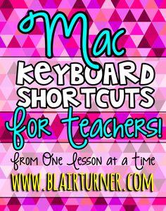 16+ Mac Keyboard Shortcuts for Teachers (FREE Posters)