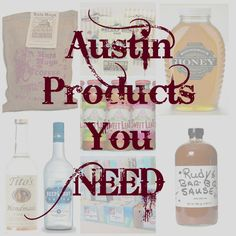 Great list of Austin based products that can be ordered online.