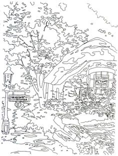 Thomas Kinkade Disney Coloring Pages Printable Paint by Numbers for Adults Art Pinterest