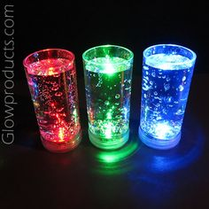Light Up LED Shooter Glasses (Glowing Shot Glasses) http://glowproducts.com/products/BPSGS