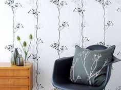Tappezzeria romantica per camera da letto - Carta da parati con motivi floreali Barry Black.