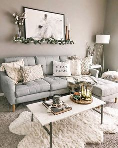32 Gorgeous Winter Living Room Decor You Should Copy Now Boho Living Room Copy Decor Gorgeous Living Room winter Winter Living Room, Boho Living Room, Living Room Colors, Small Living Rooms, Small Living Room Designs, Bohemian Living, How To Decorate Small Living Room, Modern Living Room Design, Cool Room Designs