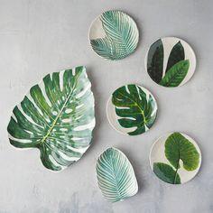 Tropical Foliage Melamine Plate | Terrain