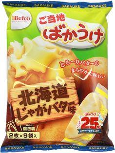 Hokkaido Butter Potato Bakauke Rice Crackers $3.00 http://thingsfromjapan.net/hokkaido-butter-potato-bakauke-rice-crackers/ #rice cracker #Japanese snack #delicious Japanese snack