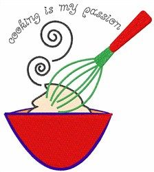 "Freebie for your favorite chef! ""Cooking Is My Passion"" machine embroidery design"