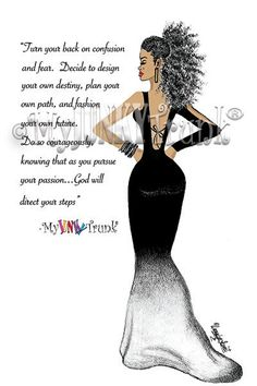 NEW! Fashion Illustration-COURAGEOUS- African American Art Natural Hair Afro Black Woman Art Print