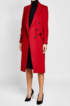 Wool Coat with Cashmere - Burberry | WOMEN | IT STYLEBOP.COM
