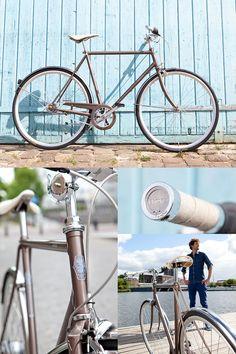 De nieuwe lifestyle fiets van Gazelle - Van Stael. Minimalistisch en met Brooks accessoires.