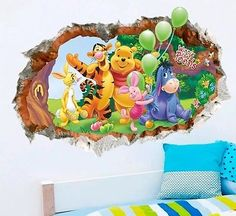 Winnie the Pooh decal wall sticker baby nursery boy girl home decor