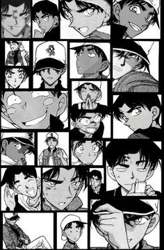 Image discovered by Menma. Find images and videos about black and white, manga and detective conan on We Heart It - the app to get lost in what you love. Dc Anime, Anime Guys, Manga Anime, Kawaii Anime, Conan Comics, Detektif Conan, Happy Tree Friends, Inuyasha, Heiji Hattori