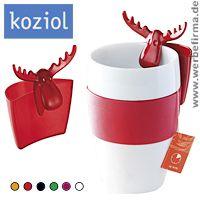 Mit dem Tassenutensilo Rudolf von koziol als Werbeartikel für Weihnachten, lohnt es sich über den Tellerrand zu schauen.