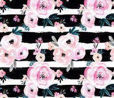 Sunset Rose Stripe fabric by crystal_walen on Spoonflower - custom fabric