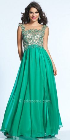 Keyhole Illusion Embellished Prom Dress by Dave and Johnny #edressme