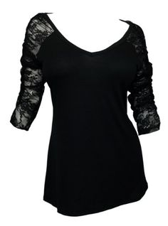eVogues Plus Size Sexy Lace Accented Black Tunic Top - 1X eVogues Apparel,http://www.amazon.com/dp/B003OBG5MY/ref=cm_sw_r_pi_dp_K6HTsb0XADA89N34
