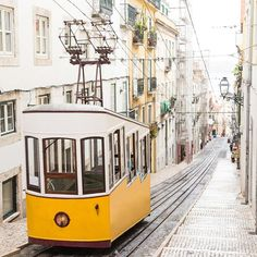 Adding a tram ride through Bairro Alto Lisbon to our bucket list. via ELLE CANADA MAGAZINE OFFICIAL INSTAGRAM - Fashion Campaigns  Haute Couture  Advertising  Editorial Photography  Magazine Cover Designs  Supermodels  Runway Models