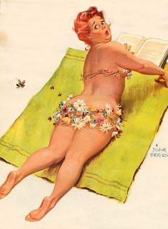 Wall Art Print-PINUP-Art Reproduction Vintage Sexy Pin-up Girl Vintage Sexy Plus-size Pin-up Girl Duane Bryers Hilda Print Arte Pin Up, Pin Up Art, Pin Up Vintage, Vintage Diy, Crafty Fox, Modelos Plus Size, Dita Von Teese, Big And Beautiful, Beautiful Curves