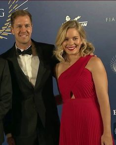 Hanna looking amazing in red and Seb, what a lovely couple, so pleased to see her for a change out with Seb at an official function.