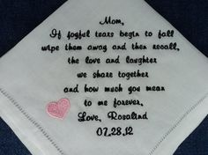 Gift for Mother of the Bride Custom by InspiredStitches on Etsy, $24.50