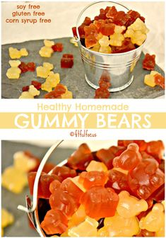 Healthy Homemade Gummy Bears | Recipe Redux | Healthy Candy Recipe | Homemade Candy | Corn Syrup Free | Gluten Free | Soy Free