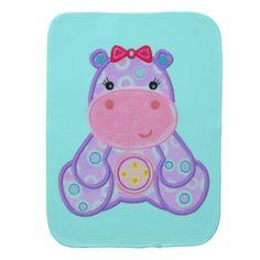 Henrietta Hippo Fun Baby Burp Cloth Burp Cloth