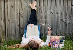 Senior photography, Harry Potter, books, magic, senior girl