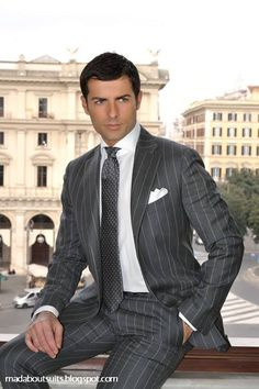 .An Italian business man, or just a fabulous suit?