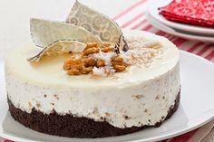 Torta Trufada de Arroz Doce e Nozes