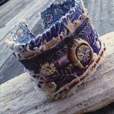 Zerfetzte textilen Manschette Evil Eye Textil-Armband von quisnam