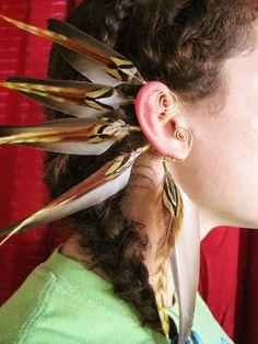 Golden Warrior Feather Ear wrap